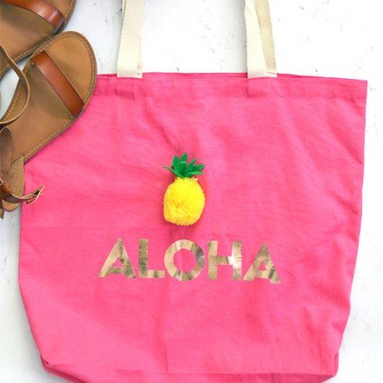 5045594148 ... DIY Pom Pom Pineapple Tote Bag