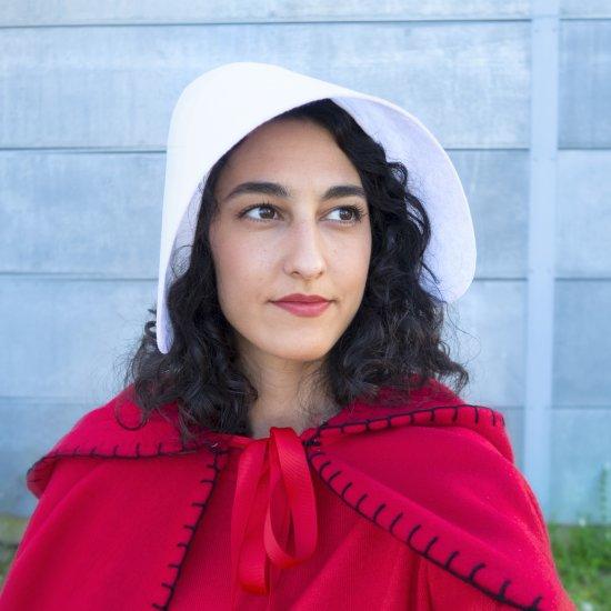 DIY Handmaid's Tale Inspired Bonnet