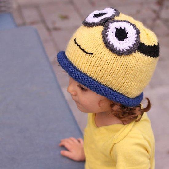 Minion Hat Knitting Pattern