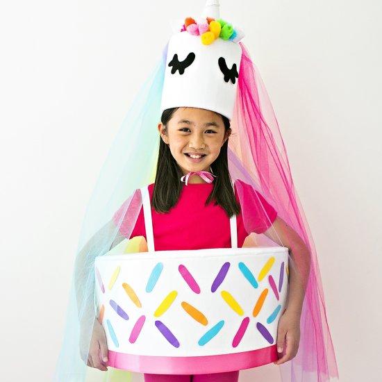 DIY Unicorn Cake Costume