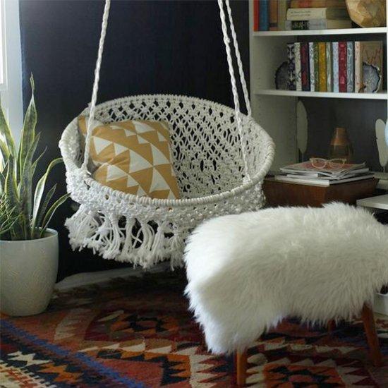 ... DIY Hanging Macramé Chair