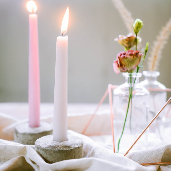 DIY Concrete Candle Holders