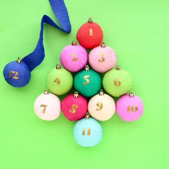 DIY Surprise Ball Advent Calendar