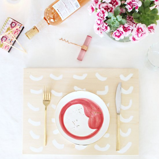 DIY painted wooden placemats
