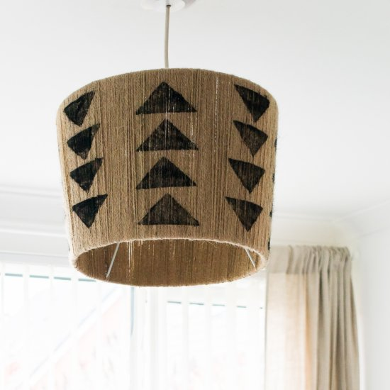 The Easiest DIY Jute Lampshade