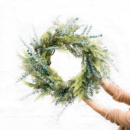 Mixed Greens Evergreen Wreath
