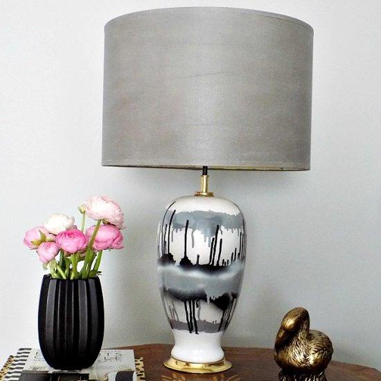 Lamp shade gallery craftgawker faux leather lamp shade aloadofball Choice Image