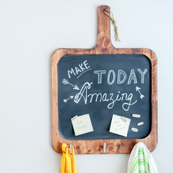 ... DIY Magnetic Chalkboard For Kitchen