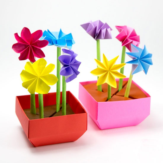 Search results for origami flower craftgawker origami flower pot tutorial mightylinksfo