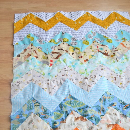 Chevron Baby Quilt Pattern Tutorial Craftgawker