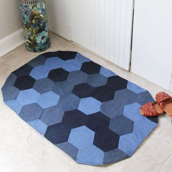 How To Make A Rug Out Of Old Jeans