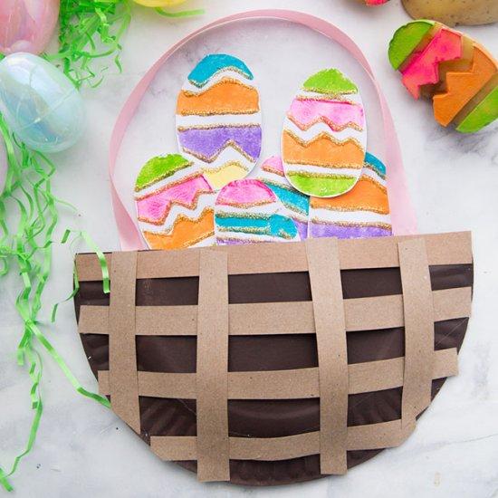 ... Paper Plate Easter Basket & paper plate easter basket | craftgawker