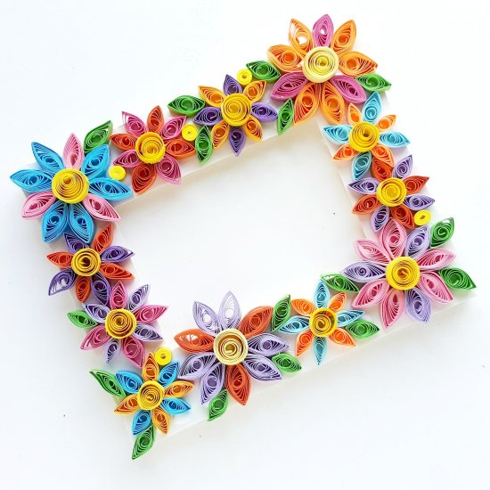 How to make quilled paper flowers gallery craftgawker quilled flower frame 109169 shesaved this easy paper mightylinksfo