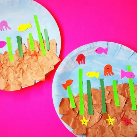 paper plate fish aquarium craft | craftgawker