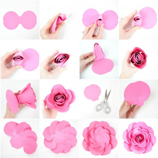 Free Large Paper Rose Template Craftgawker