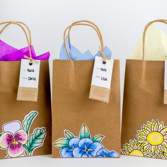 DIY Botanical Gift Bags