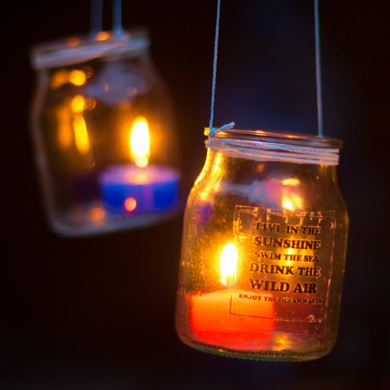 Diy Hanging Jar Candle Lights