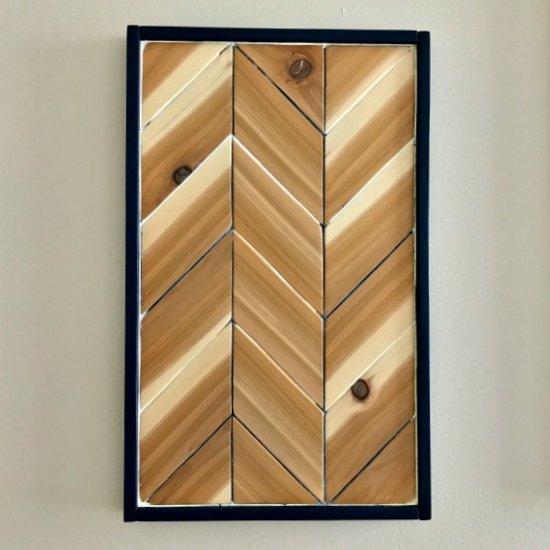 diy chevron wood wall art | craftgawker