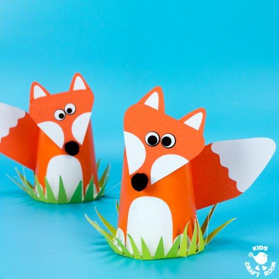Paper Cup Fox Craft Craftgawker