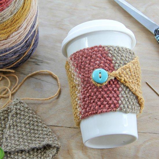 Fall Knit Coffee Cozy Craftgawker