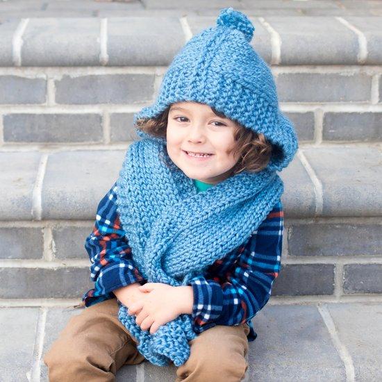Kids Hooded Scarf Knitting Pattern Craftgawker