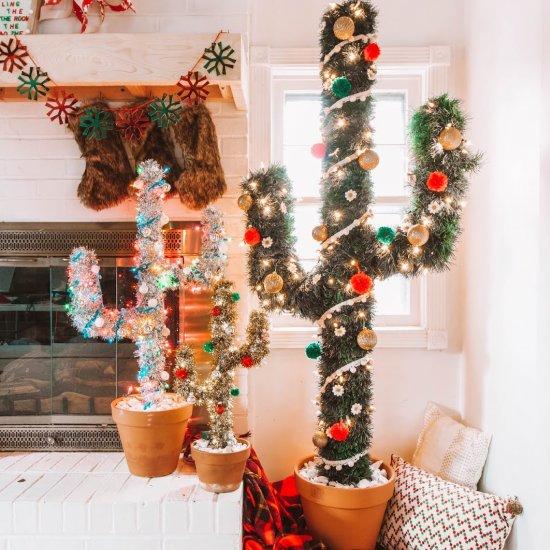 Mini Cactus Christmas Tree Craftgawker