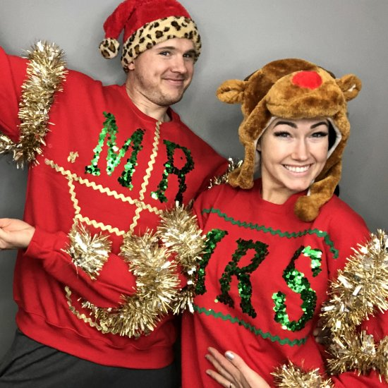 Couples Christmas Sweaters.Ugly Christmas Sweaters For Couples Craftgawker