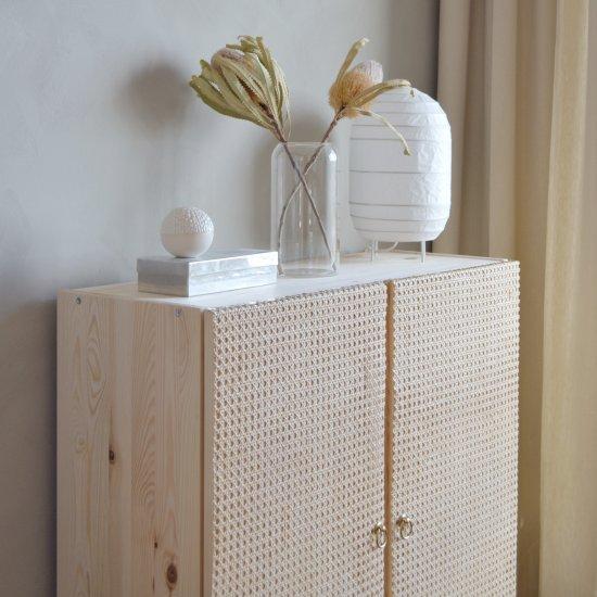 IKEA Hack U2013 DIY Rattan Cabinet