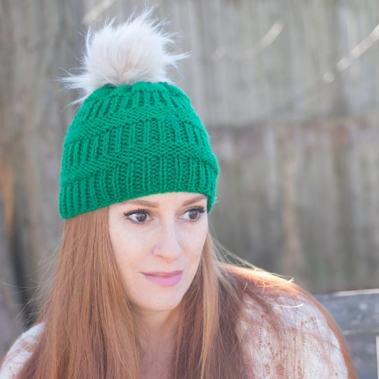 27ae2f928f9984 Rib Stripe Hat Knitting Pattern