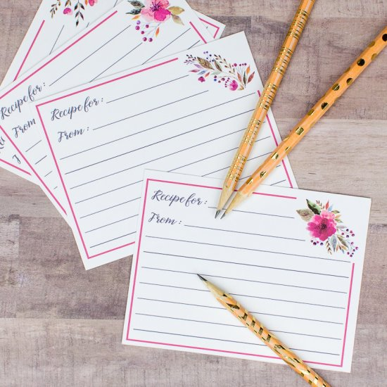 image about Free Printable Recipe Cards for Bridal Shower named bridal shower gallery craftgawker