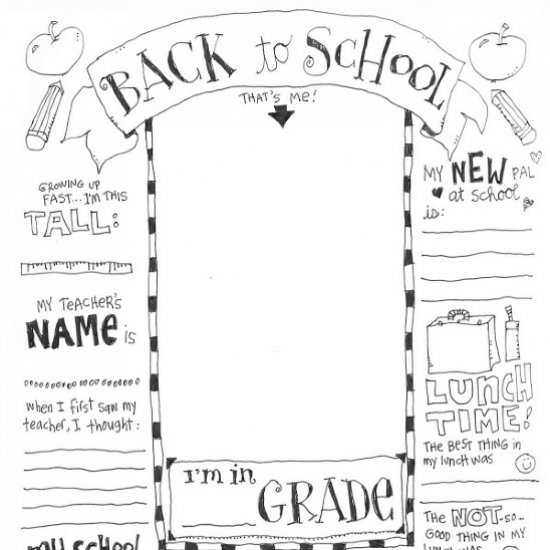 - First Day Of School Coloring Page Craftgawker