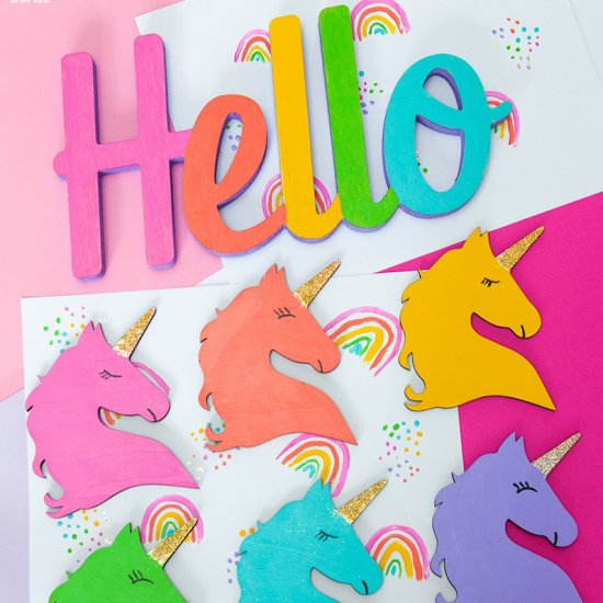 DIY Rainbow Unicorn Craft
