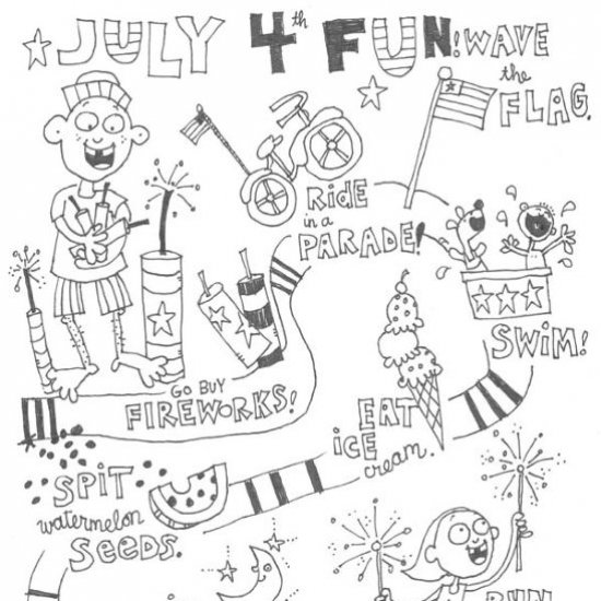 Fourth Of July Coloring Pages Craftgawker