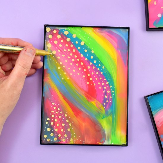 DIY Abstract Art on Glass