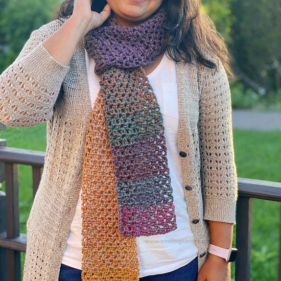 One Skein Crochet Scarf Pattern