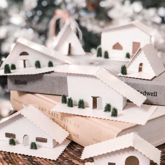 DIY Tiny Houses Christmas Ornaments